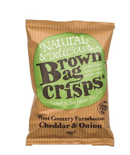 Obrázek Chipsy čedar & cibule 20 x 40 g