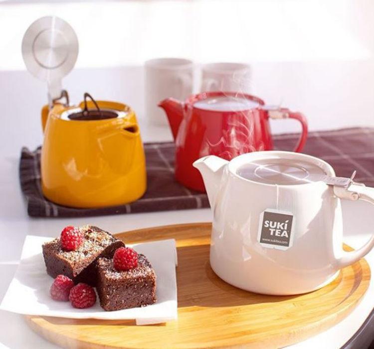 Obrázek ForLife konvička na čaj mandarinková, 530 ml