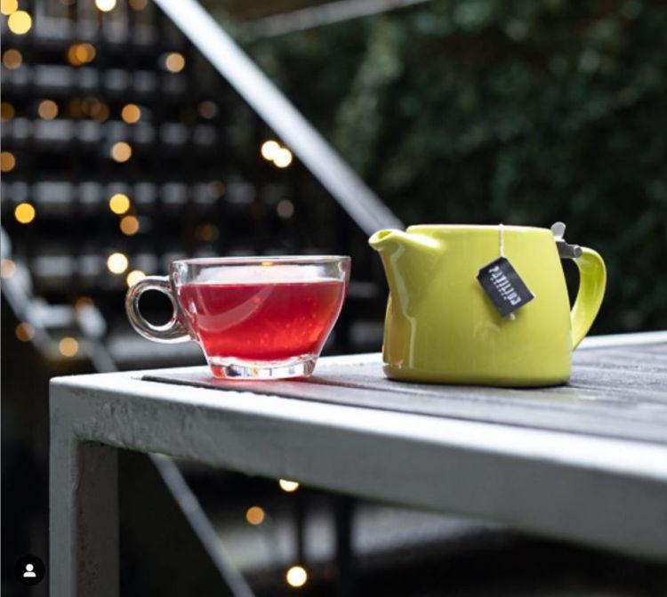 Obrázek ForLife konvička na čaj limetková, 400 ml